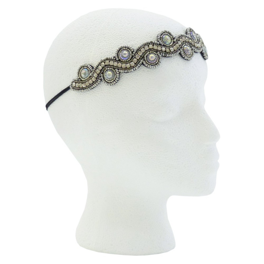 Pink Pewter Alyx Bridal and Special Occasion Headband - Silver, Womens