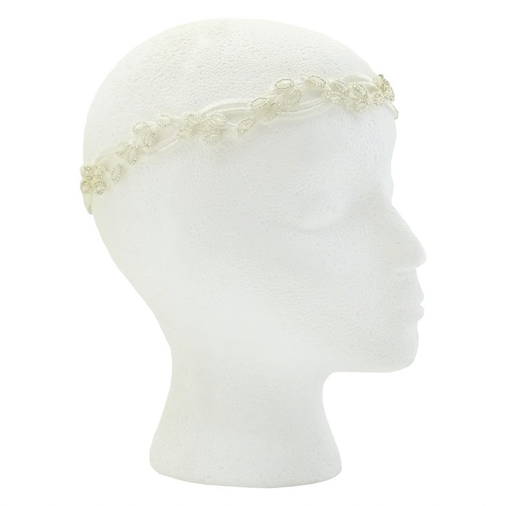 Pink Pewter Elle Bridal and Special Occasion Headband - White, Womens, Size: Small