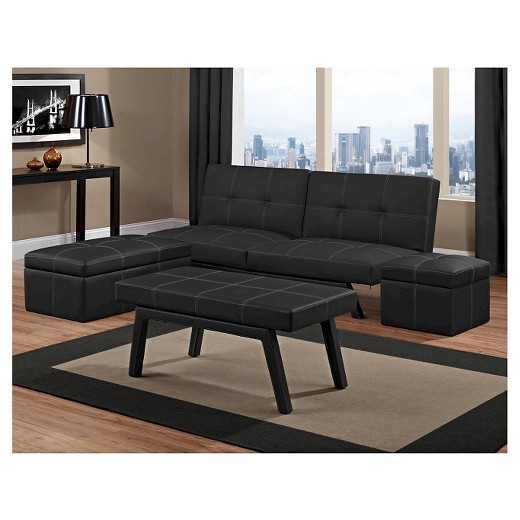 Delaney Splitback Futon Black Dorel Home Products