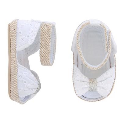 Baby Girls' Eyelet Espadrille Peeptoe Sandal - Circo™ White 4
