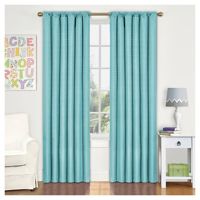 Kendall Thermaback Curtain Panel Pool Blue (42 x84 )- Eclipse My Scene