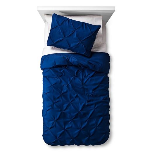 Pinch Pleat Duvet Cover Set Twin White 2pc - Pillowfort ...