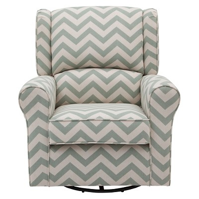 Delta Children® Morgan Chevron Nursery Glider Swivel Rocker Chair – Sage