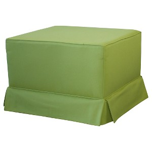 Little Castle Gliding Ottoman with Skirt - Verbena Lime