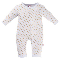 E=MC2 Magnetic Baby Stars Coverall - White