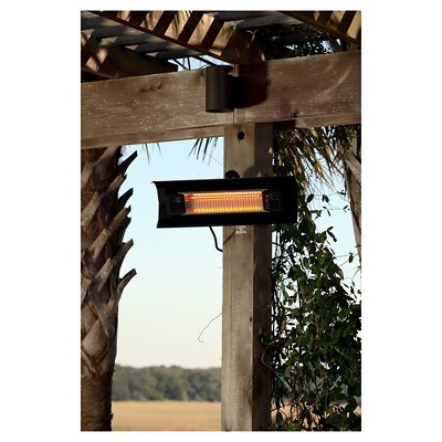 Perfect Fire Sense Black Steel Wall Mounted Infrared Patio Heater
