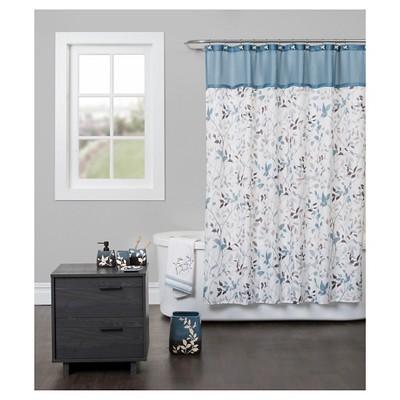 Passell Fabric Shower Curtain Blue - Saturday Knight Ltd.®