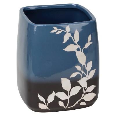 Passell Ceramic Wastebasket Blue - Saturday Knight Ltd.®