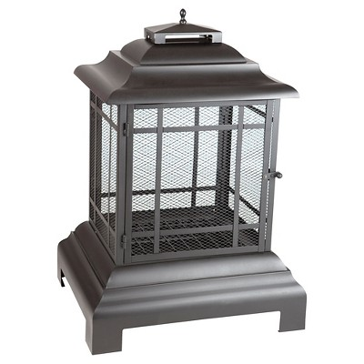 Rectangle Woodburning Pagoda Patio Fireplace - Fire Sense
