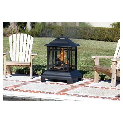 Rectangle Woodburning Pagoda Patio Fireplace   Fire Sense