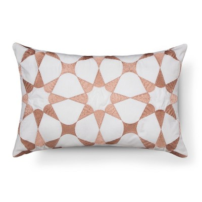 Peach/White Playa Throw Pillow (18 x12 )- Sabrina Soto™