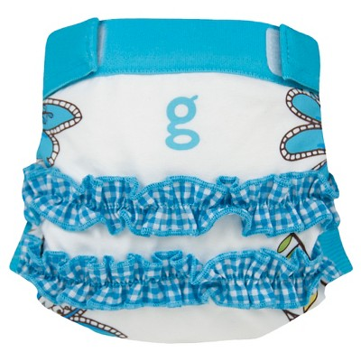 gDiapers girly twirly blue gPants - Medium