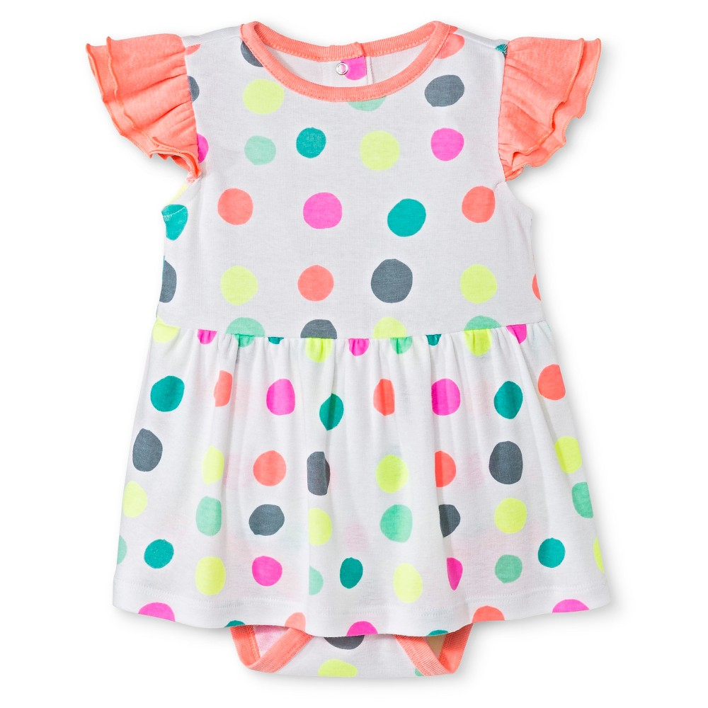 Oh Joy! Baby Polka Dot Skirted Bodysuit – White 0-3M, Infant Girl's, Size: 0-3 M