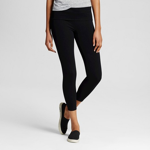 Women's Yoga Capri Foldover Waistband - Mossimo Supply Co ...