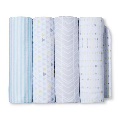 Flannel Receiving Blankets 4pk - Geo Patchwork - Circo™