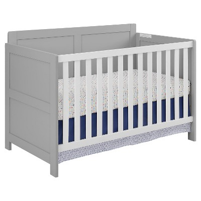 Coral Point Crib Soft Gray/White - Room & Joy