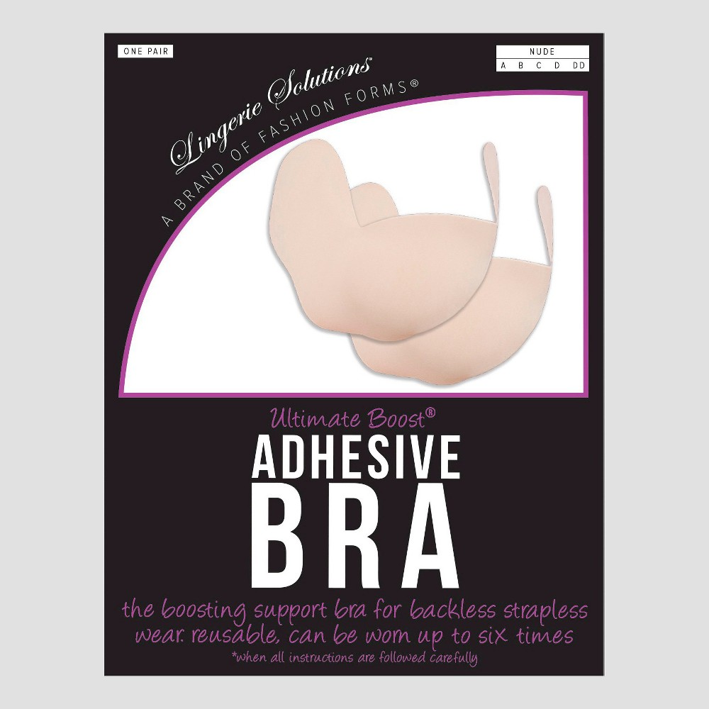 Fashion Forms Womens Ultimate Boost Adhesive Strapless Backless Bra - Nude B Cup, Beige