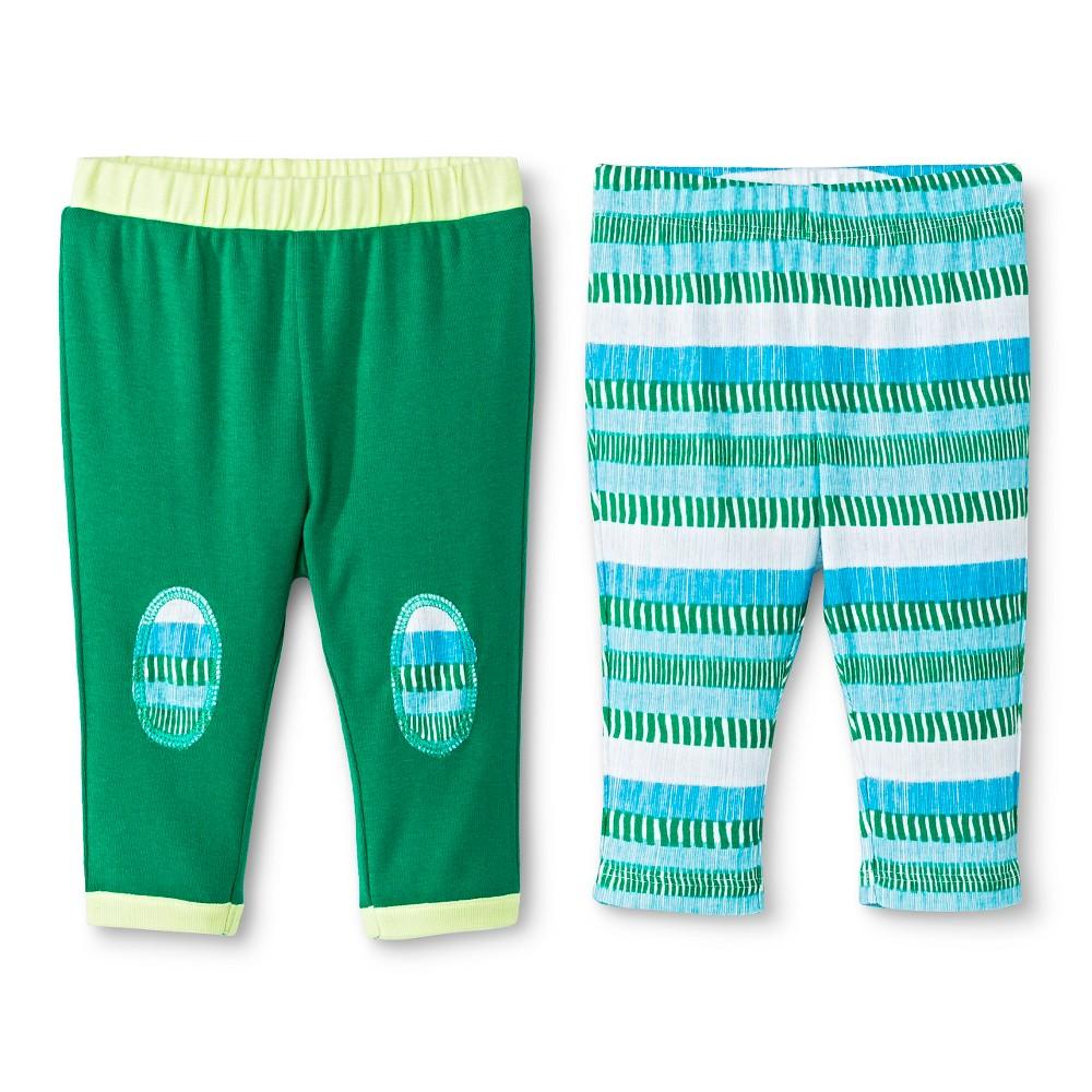 Oh Joy! Newborn 2 Pack Pant Set – Multi-Stripe 24M, Newborn Boy's, Size: 24 M, Green
