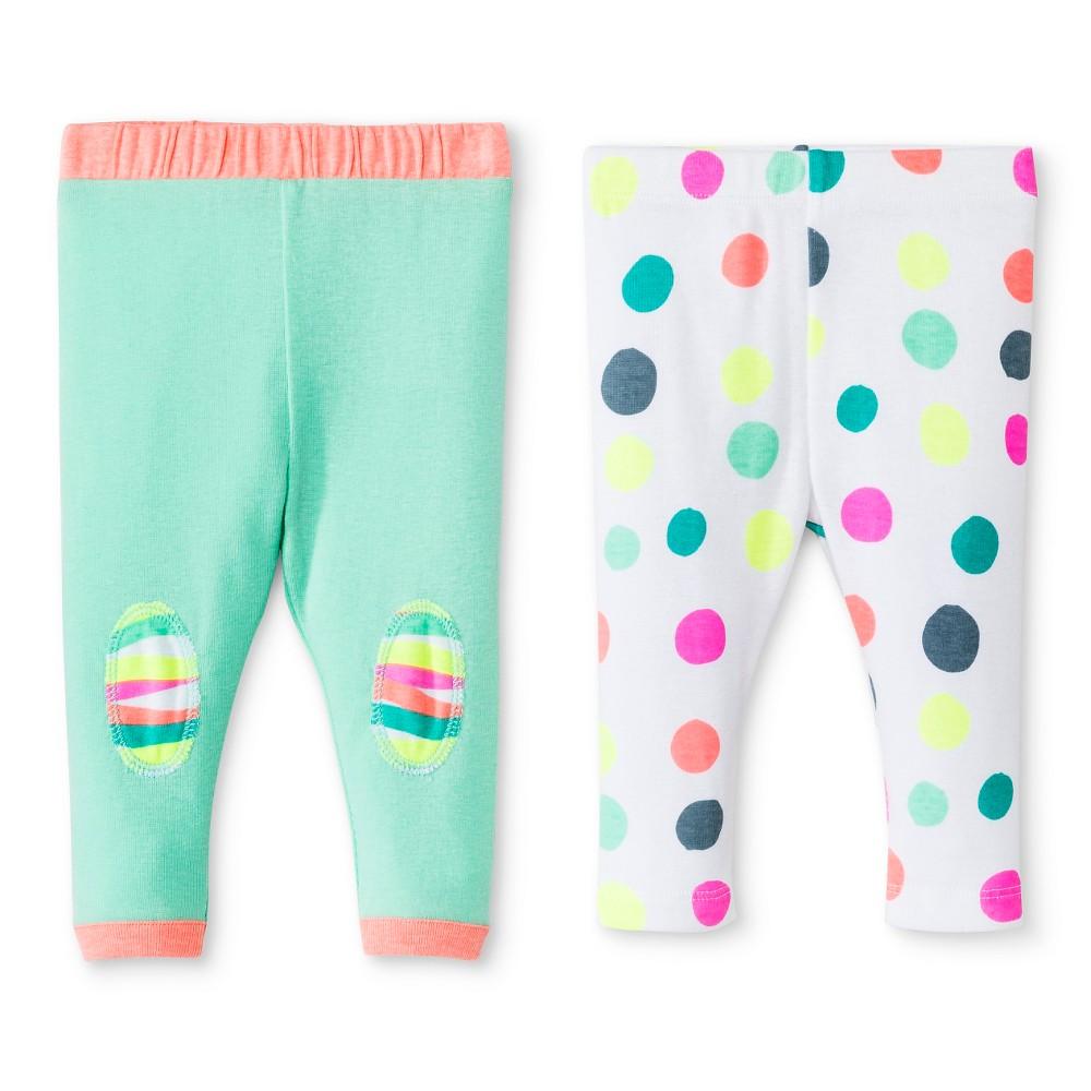 Oh Joy! Newborn 2 Pack Pant Set – Dotty 24M, Newborn Girl's, Size: 24 M, White