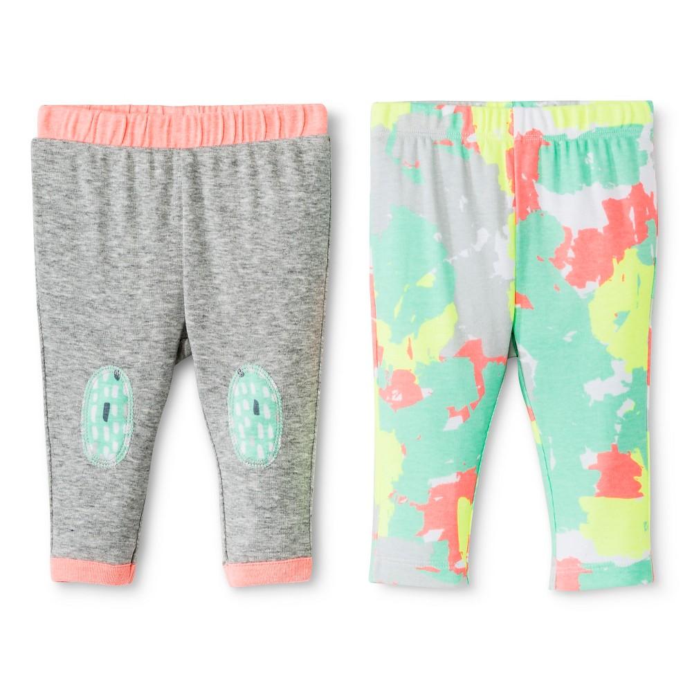 Oh Joy! Newborn 2 Pack Pant Set – Painted Camo, Newborn Girl's, Size: 3-6 M, Gray