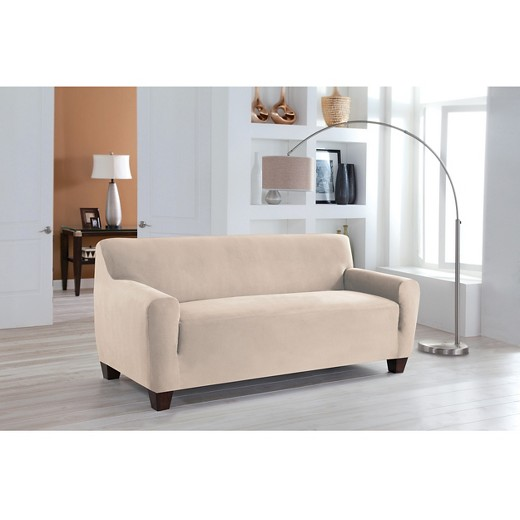 Stretch Fit Microsuede Sofa Slipcover Serta Tar