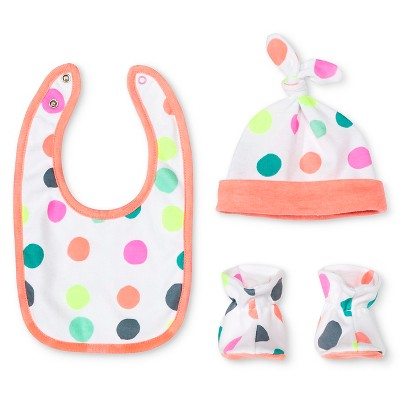 Oh Joy!® Newborn Bib, Hat & Slipper Set - Dotty OSFM
