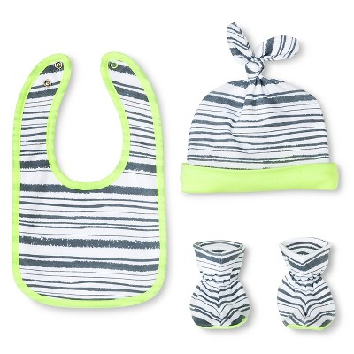 Oh Joy!® Newborn Bib, Hat & Slipper Set - Stripes OSFM