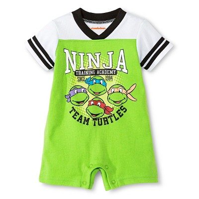 Teenage Mutant Ninja Turtles® Baby Boys' Athletic Romper - Green 6-9M