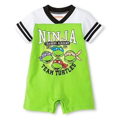 Teenage Mutant Ninja Turtles® Baby Boys' Athletic Romper - Green 0-3M