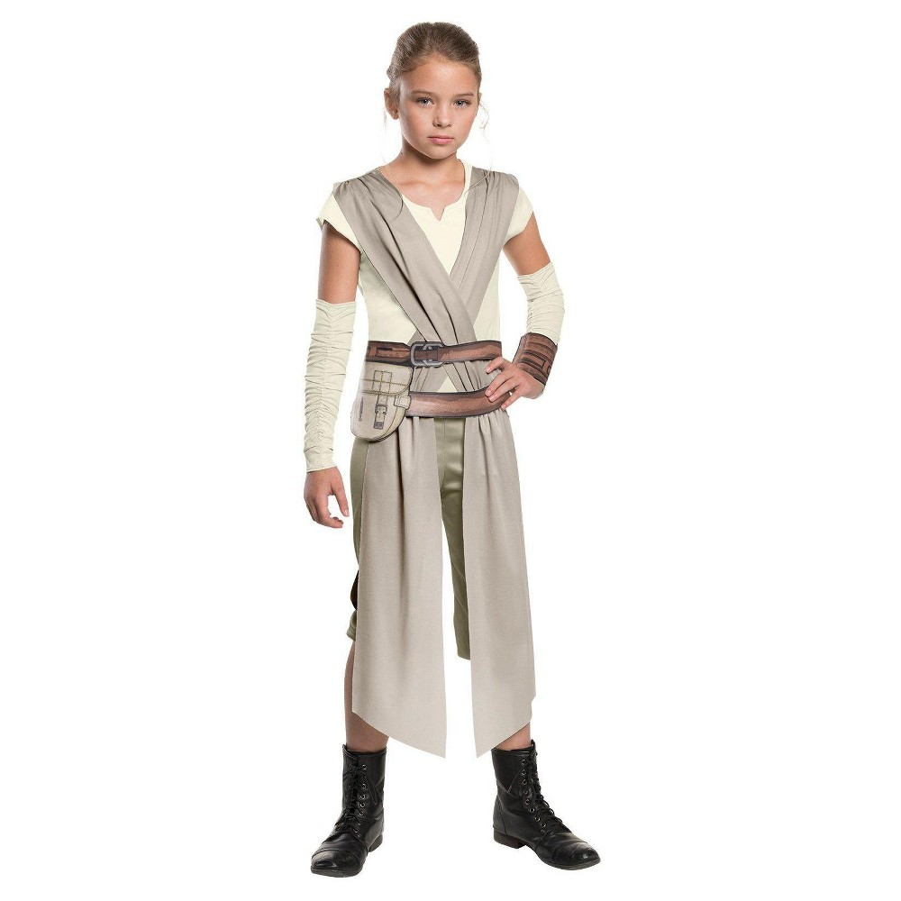 Star Wars: Rey Girls Classic Costume Medium (7-8), Size: M(8-10), Gray
