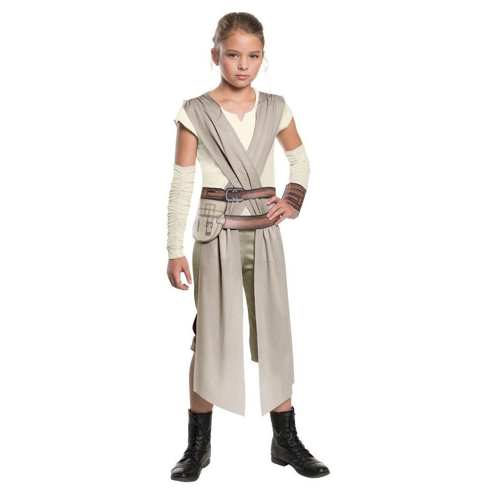 Star Wars: Rey Girls Classic Costume L(12-14), Gray