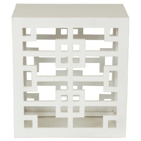 End Table White - Jeffan - image 1 of 4