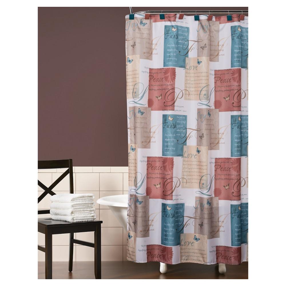 Cherish Fabric Shower Curtain, Blue
