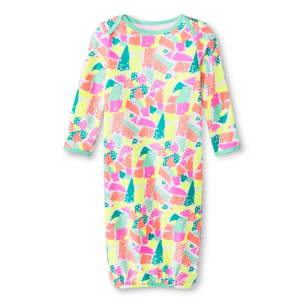 Oh Joy! Newborn Nightgown – Torn Paper 3-6M, Newborn Girl's, Size: 3-6 M, Green