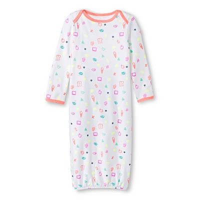 Oh Joy!® Newborn Nightgown - Favorite Things Peach/White 3-6M