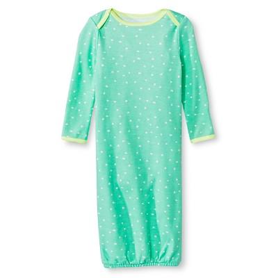 Oh Joy!® Newborn Nightgown - Mint Dots 3-6M