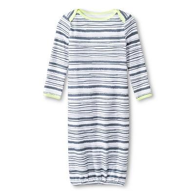 Oh Joy!® Newborn Nightgown - Grey Stripes 3-9M