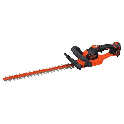 BLACK+DECKER 20V MAX Hedge Trimmer - Orange Sorbet
