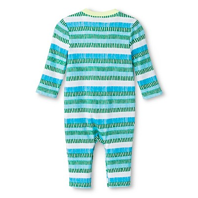Oh Joy! Newborn Long Sleeve Romper - Blue/Green Stripes 24M, Newborn Boy's, Size: 24 M