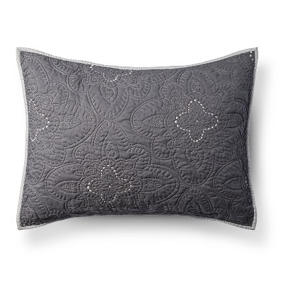 Gray Disco Medallion Pillow Sham (Standard)- Xhilaration™