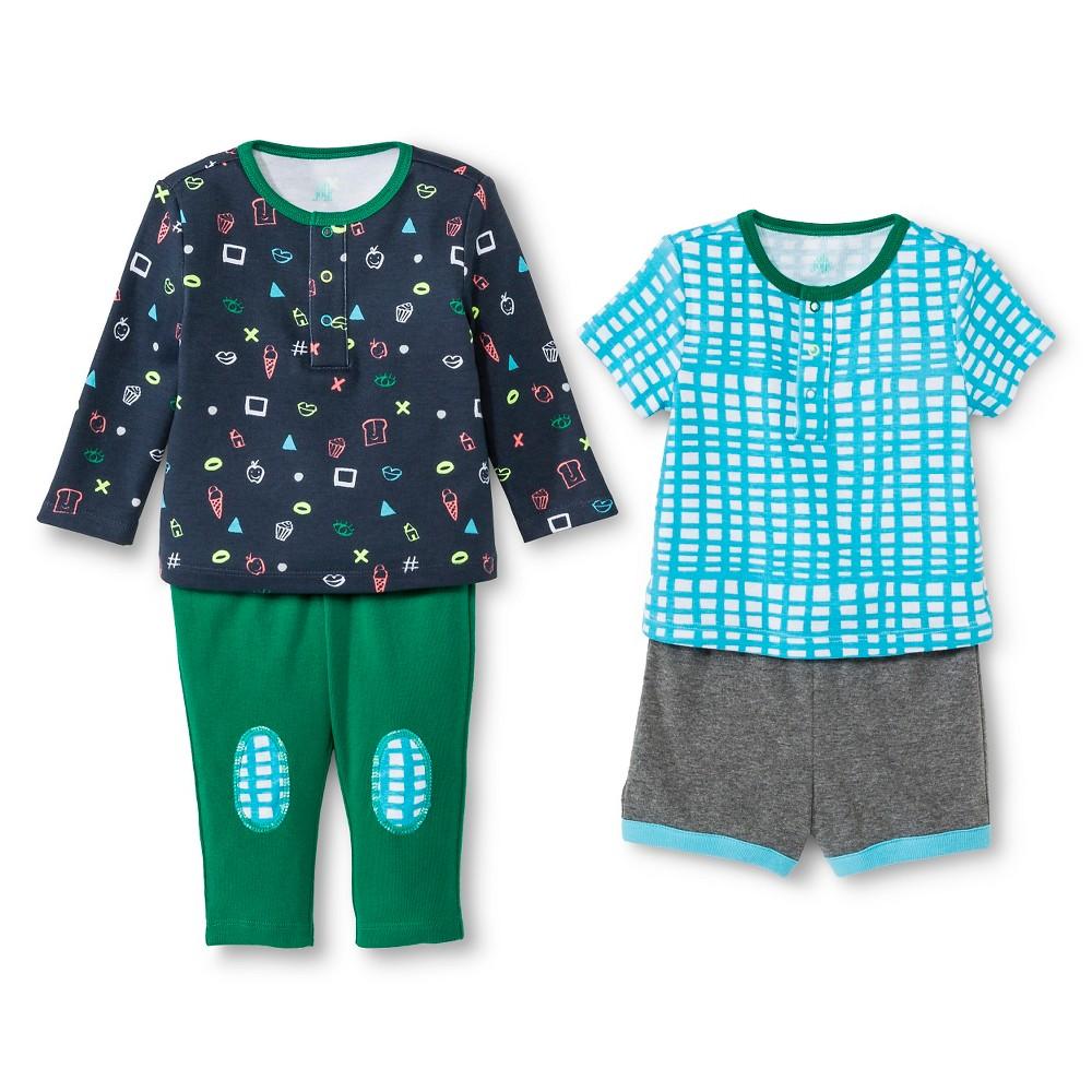 Oh Joy! Newborn Boys' 4 Piece Set – Multi Blue 24M, Newborn Boy's, Size: 24 M