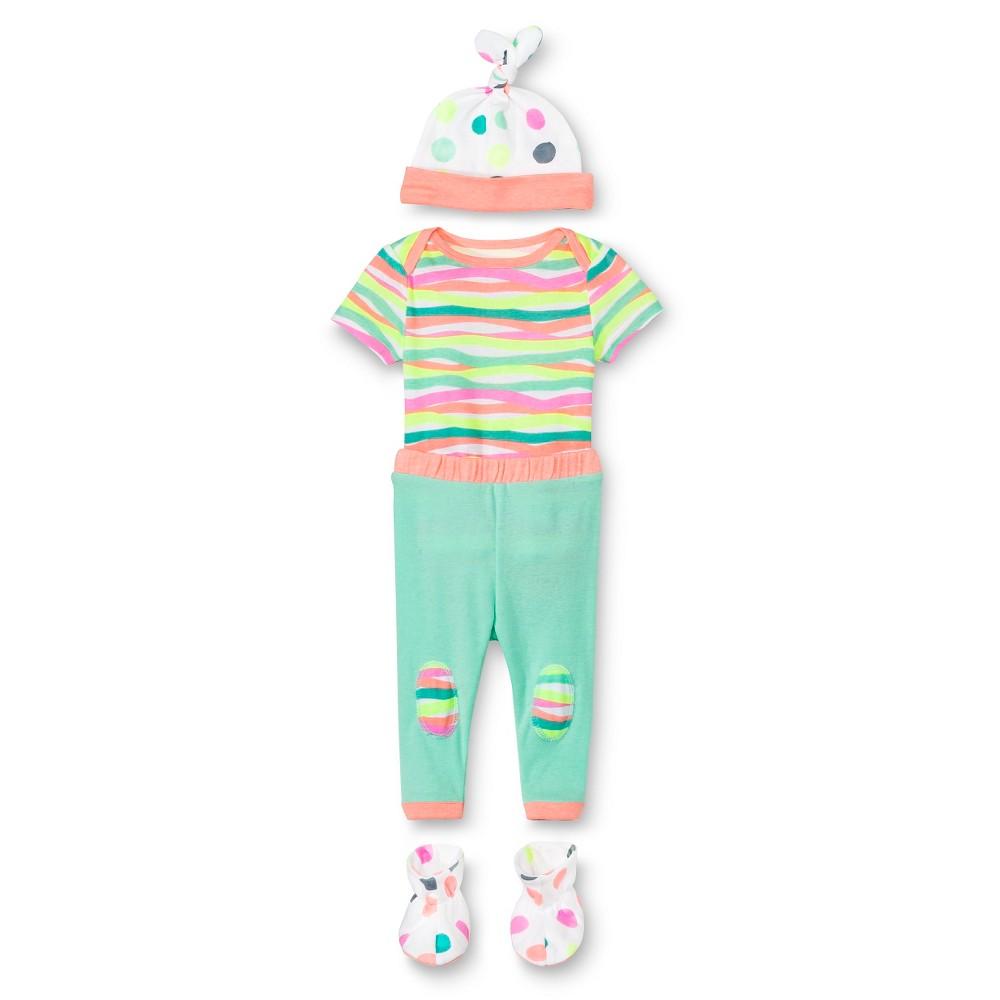 Oh Joy! Newborn Gift Box Bundle – Dotty/Multi Stripes 3-6M, Pink