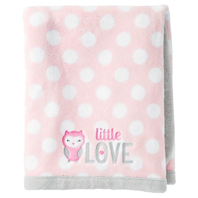 Baby Girls' Fluffy Fleece Blanket - Just One You™ Made by Carter's® Pink Polka Dot