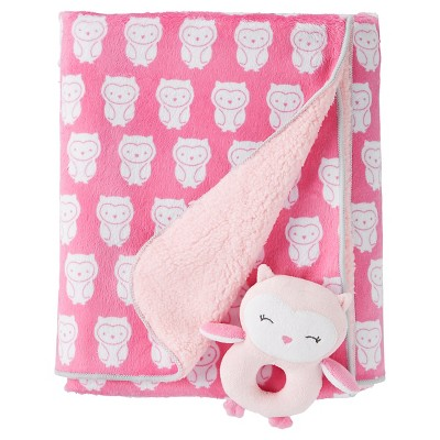 Baby Girls' Owls Rattle Blanket - Just One You™ Made by Carter's® Pink