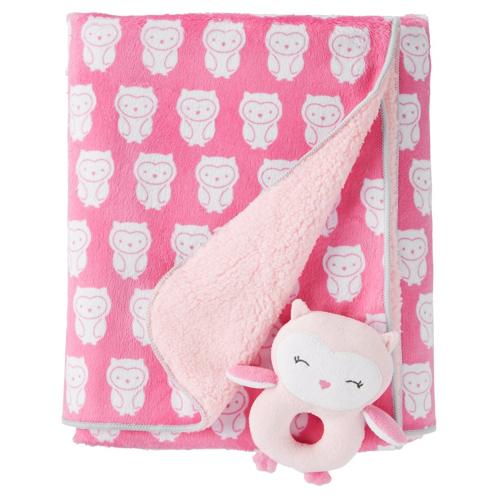 Baby Girls' Owls Rattle Blanket - Just One You Made by Ca...