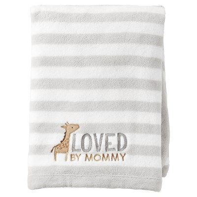 Baby Fluffy Fleece Blanket - Just One You™ Made by Carter's® Gray/White Stripe