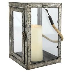 Large Stonebriar Metal Newport Candle Lantern - CKK Home Decor