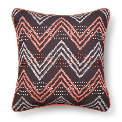 Gray & Pink Chevron Throw Pillow - Xhilaration™