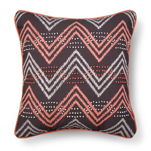 Gray & Pink Chevron Throw Pillow - Xhilaration : Target