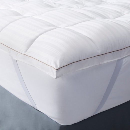 Premium Down Alternative Mattress Topper Queen White